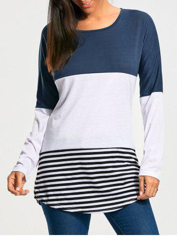 Online Color Block Striped Long Sleeve T-shirt