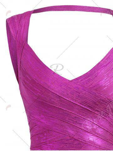 Outfits Cut Out Bronzing Sweetheart Neck Bandage Dress - M SANGRIA Mobile
