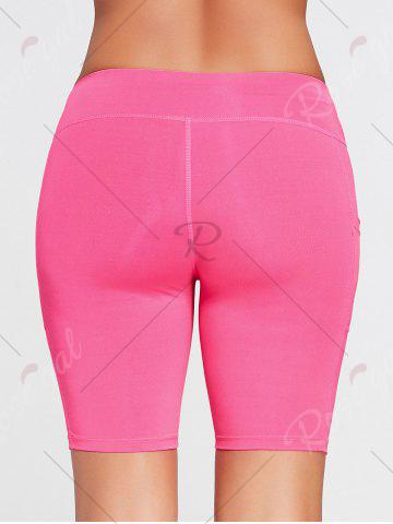 Affordable Elastic Waist Sports Shorts with Pocket - XL TUTTI FRUTTI Mobile