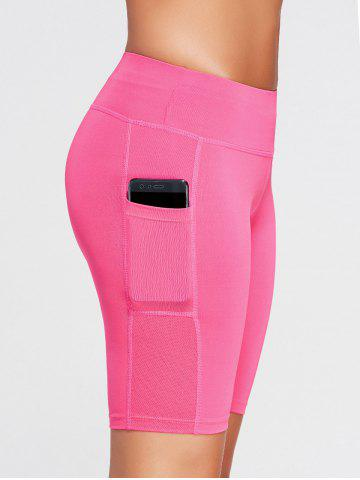 Affordable Elastic Waist Sports Shorts with Pocket