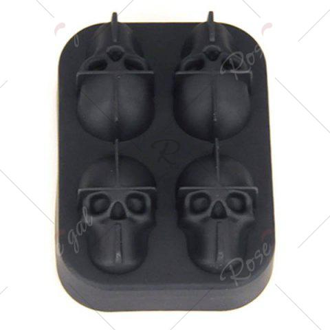Outfits Halloween 3D Skull Silicone Ice Cube Tray - BLACK  Mobile