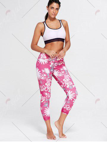 Outfit Sunflower Print Crop Running Tights - S TUTTI FRUTTI Mobile