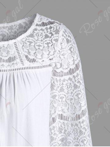 Fancy Lace Yoke Ombre Longline Top - M CLOUDY Mobile
