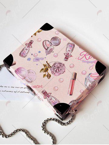 Store Floral Print Faux Leather Crossbody Bag - LIGHT PINK  Mobile