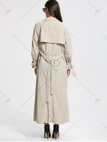 Buy Belted Maxi Wrap Trench Coat - L OFF-WHITE Mobile
