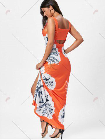 Shop Floor Length Slit Tie Dye Tank Dress - XL MANDARIN Mobile