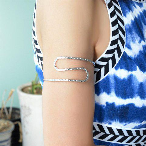 Hot Adjustable Alloy Arm Chain SILVER