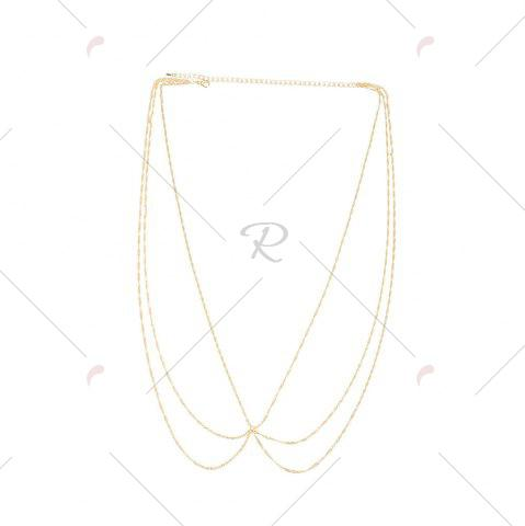 Shop Belly Statement Body Chain - GOLDEN  Mobile