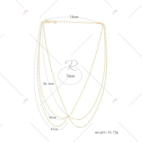 Best Belly Statement Body Chain - GOLDEN  Mobile