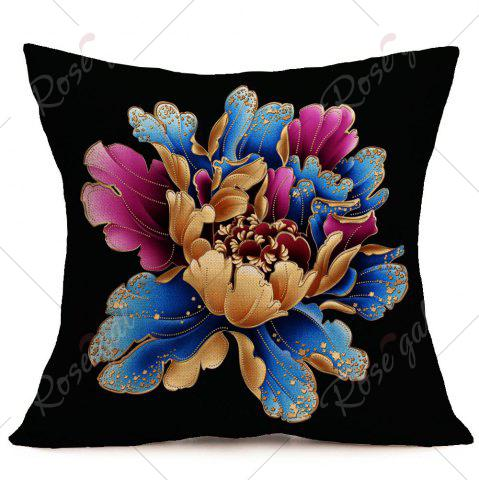 Outfit Flower Pattern Linen Square Pillow Case - W18 INCH * L18 INCH COLORFUL Mobile