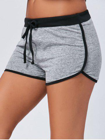 Fashion Track Mini Two Tone Drawstring Shorts