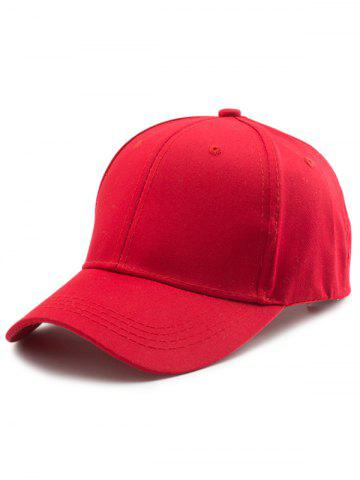 Affordable Letters Embroidered Back Baseball Hat RED