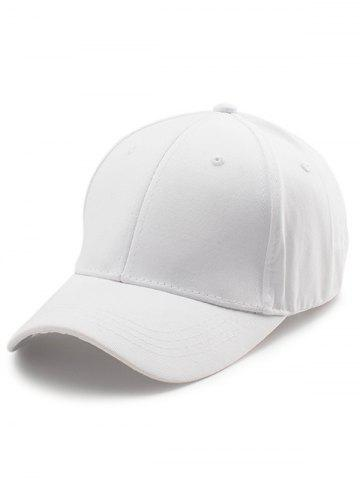 Outfit Letters Embroidered Back Baseball Hat WHITE