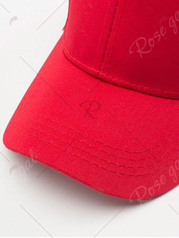 Outfits Letters Embroidered Back Baseball Hat - WHITE  Mobile