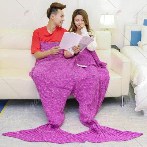 Outfit Super Soft Knitted Mermaid Blanket For Lovers - 180*155CM ROSE MADDER Mobile