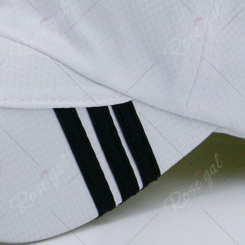 Latest Diagonal Striped Embellished Baseball Cap - WHITE  Mobile