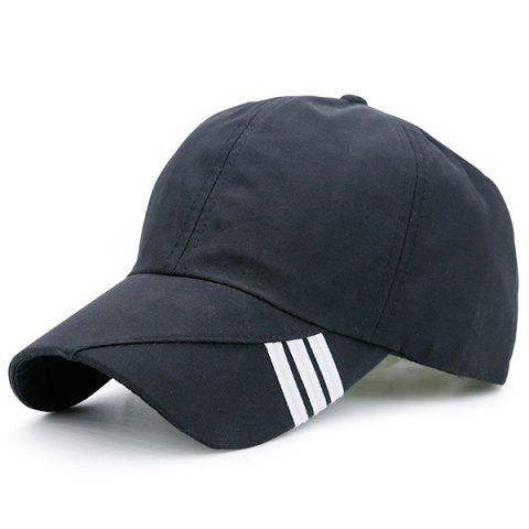 Shops Diagonal Striped Embellished Baseball Cap - BLACK  Mobile