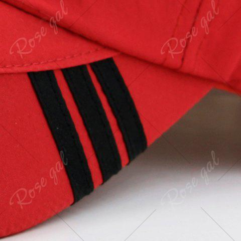 Store Diagonal Striped Embellished Baseball Cap - RED  Mobile