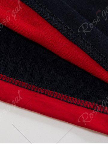 Latest Stripe Anchor Embroidered Long Sleeve T-shirt - 3XL RED Mobile