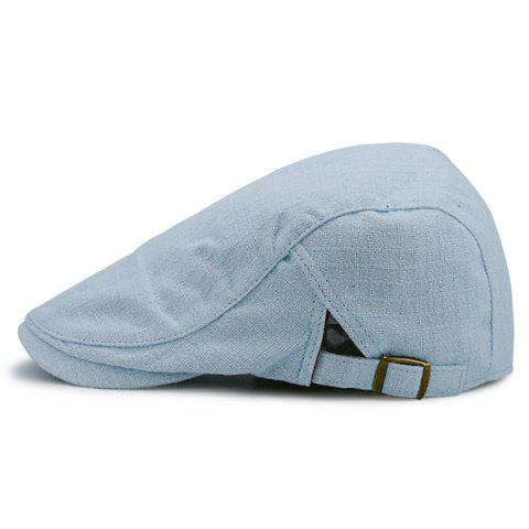 Latest Plaid Nostalgic Flat Cap - LIGHT BLUE  Mobile