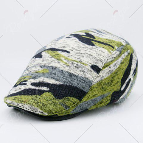 Affordable Camouflage Versatile Flat Cap - DEEP GREEN  Mobile