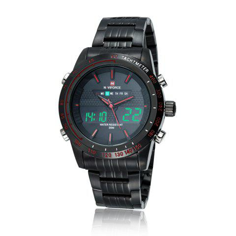 Buy NAVIFORCE 9024 Luminous Tachymeter Analog Digital Watch