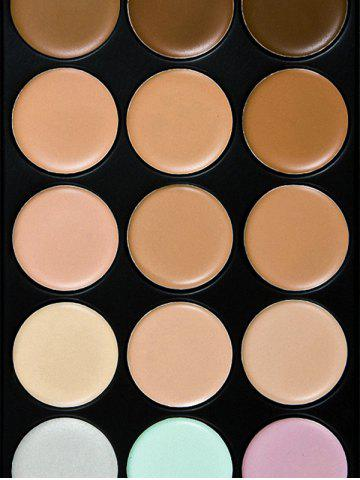 New 15 Colours Cream Concealer Palette with Foundation Brush - MULTI  Mobile