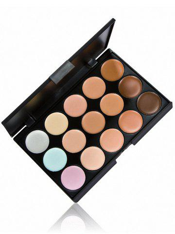 Latest 15 Colours Cream Concealer Palette with Foundation Brush - MULTI  Mobile