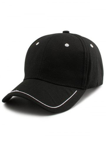 Shops Line Letters Embroidery Baseball Hat - BLACK  Mobile
