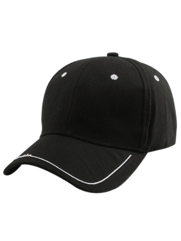 Buy Line Letters Embroidery Baseball Hat - BLACK  Mobile