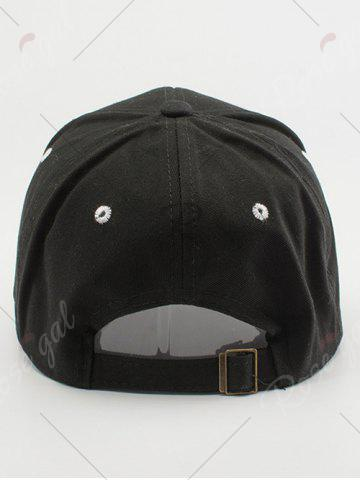 Chic Line Letters Embroidery Baseball Hat - BLACK  Mobile