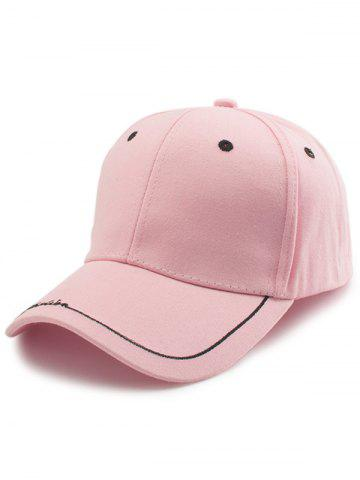 Buy Line Letters Embroidery Baseball Hat - PINK  Mobile