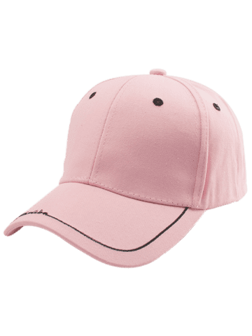 Shops Line Letters Embroidery Baseball Hat - PINK  Mobile