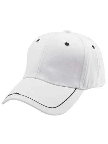 Sale Line Letters Embroidery Baseball Hat - WHITE  Mobile
