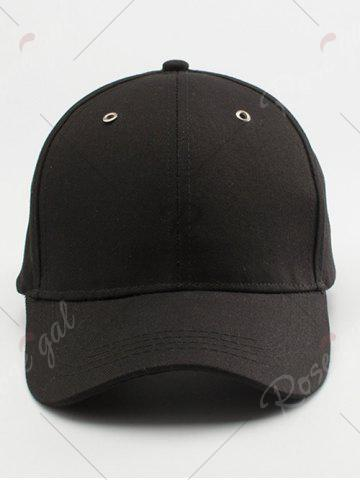 Trendy Letters Embroidered Long Tail Baseball Cap - BLACK  Mobile