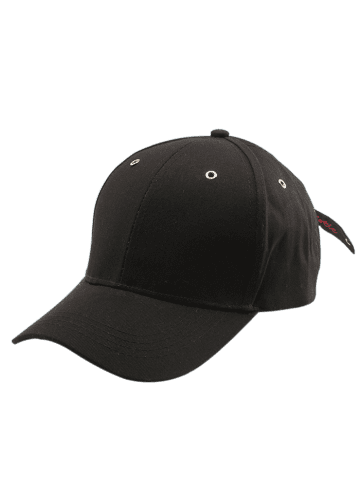 Unique Letters Embroidered Long Tail Baseball Cap - BLACK  Mobile