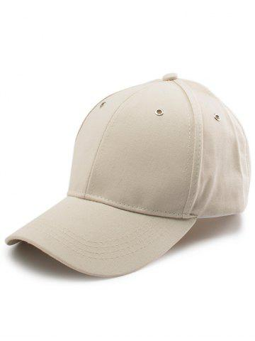 Chic Letters Embroidered Long Tail Baseball Cap - KHAKI  Mobile