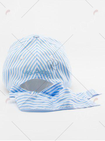Fancy Bowknot Long Tail Stripe Baseball Hat - PINKISH BLUE  Mobile