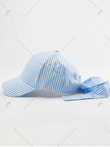 Sale Bowknot Long Tail Stripe Baseball Hat - PINKISH BLUE  Mobile