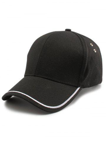 Shop Plain Line Embroidered Baseball Hat