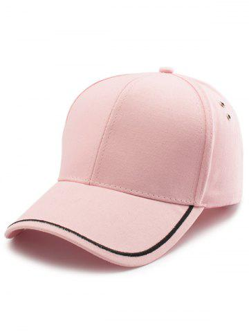 Hot Plain Line Embroidered Baseball Hat - PINK  Mobile