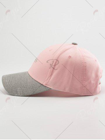 New Letters Embroidered Two Tone Baseball Cap - LIGHT PINK  Mobile