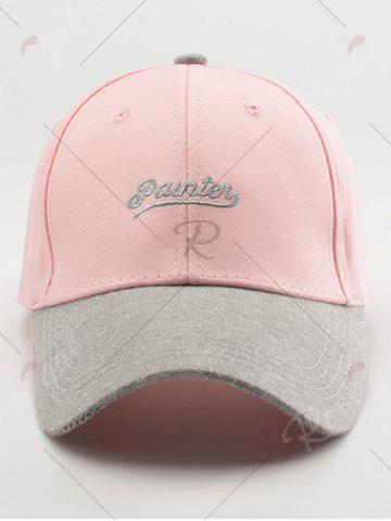 Outfits Letters Embroidered Two Tone Baseball Cap - LIGHT PINK  Mobile