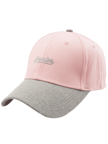 Shop Letters Embroidered Two Tone Baseball Cap - LIGHT PINK  Mobile