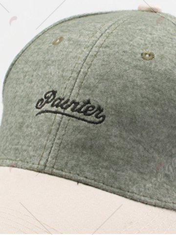 Shop Letters Embroidered Two Tone Baseball Cap - GREEN  Mobile