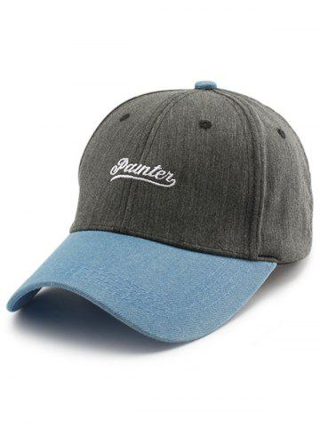 Online Letters Embroidered Two Tone Baseball Cap GRAY