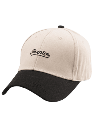 Shop Letters Embroidered Two Tone Baseball Cap - OFF-WHITE  Mobile