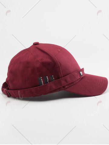 Cheap Tiny Eight Diagrams Rectangle Embellished Baseball Cap - WINE RED  Mobile