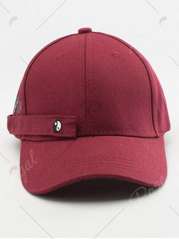 Store Tiny Eight Diagrams Rectangle Embellished Baseball Cap - WINE RED  Mobile