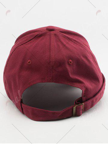 Sale Tiny Eight Diagrams Rectangle Embellished Baseball Cap - WINE RED  Mobile